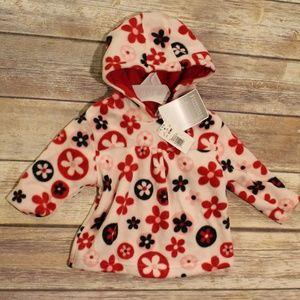 NWT Koala Kids Fleece Pullover Red & Black 12M